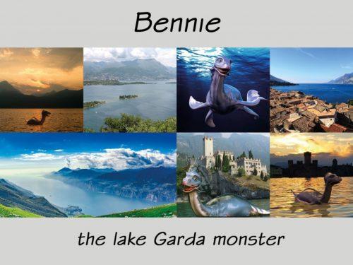 Cartolino Bennie immagine del lago di Garda Bthemonster.com