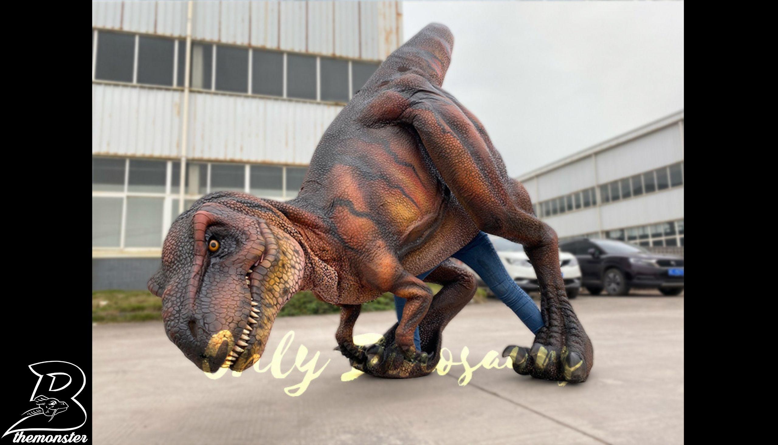 Vivid Visible Legs Tyrannosaurus Rex Dinosaur Costume in vendita sul Bthemonster.com