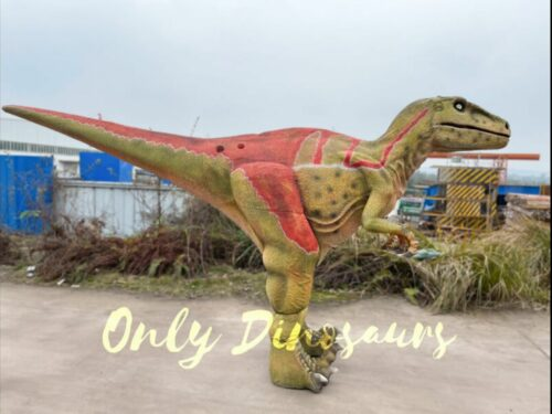 Realistic Adult Velociraptor Hidden Legs Dinosaur Costume in vendita sul Bthemonster.com