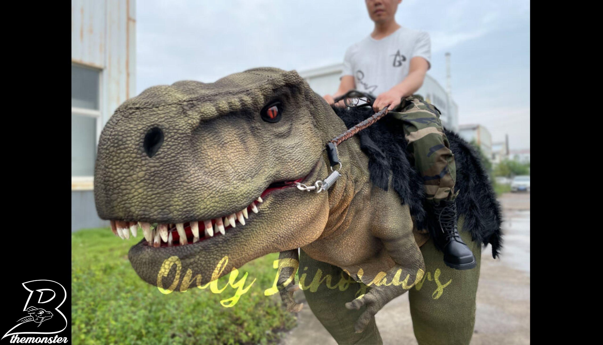 Realistic T-Rex Stilts Walking Dinosaur Costume in vendita sul Bthemonster.com