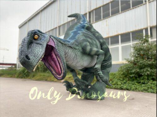 Realistic Velociraptor Hidden Legs Dinosaur Costume in vendita sul Bthemonster.com