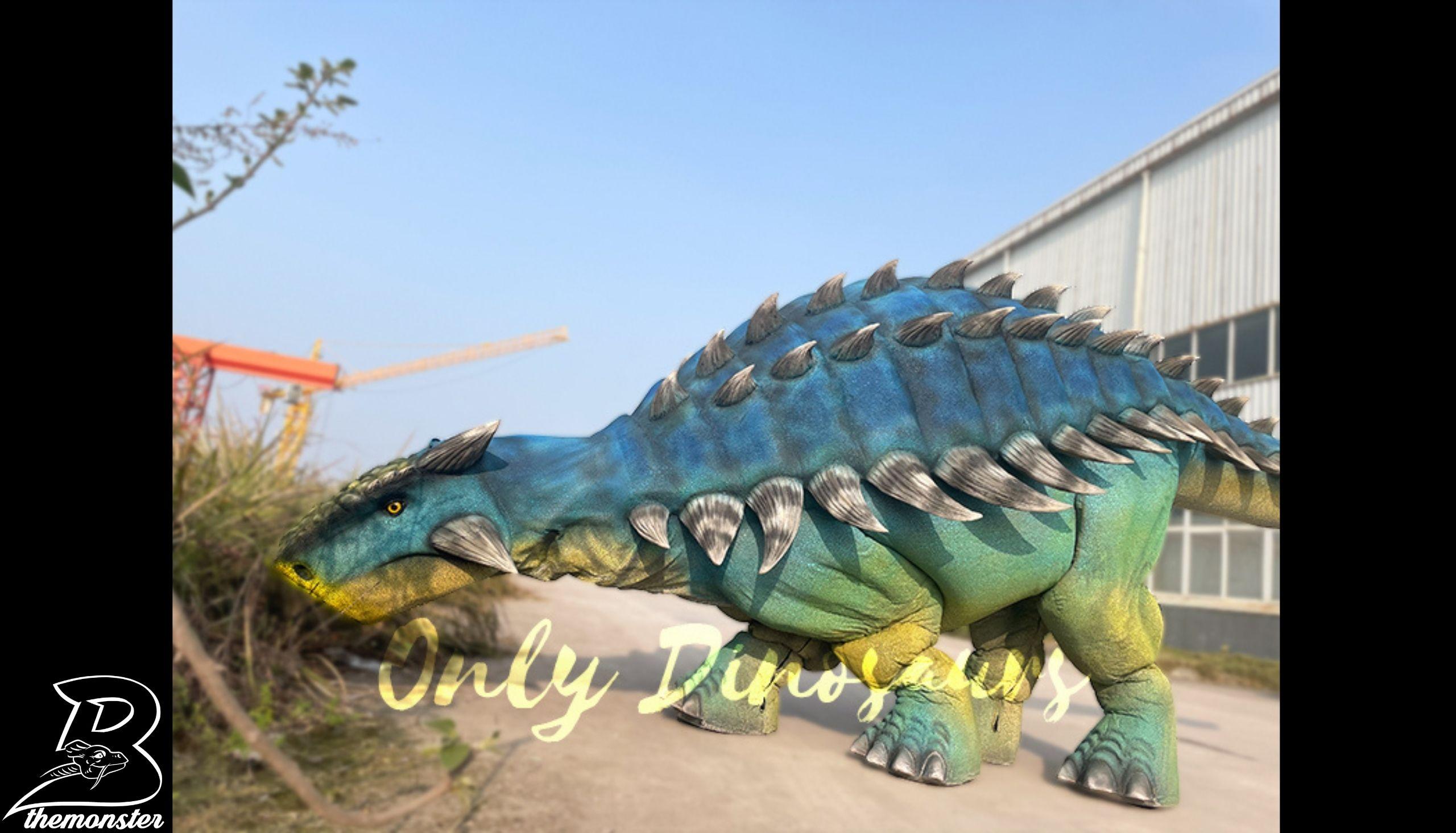 Vivid Ankylosaur Blue Controlled By two Person Dinosaur Costume in vendita sul Bthemonster.com