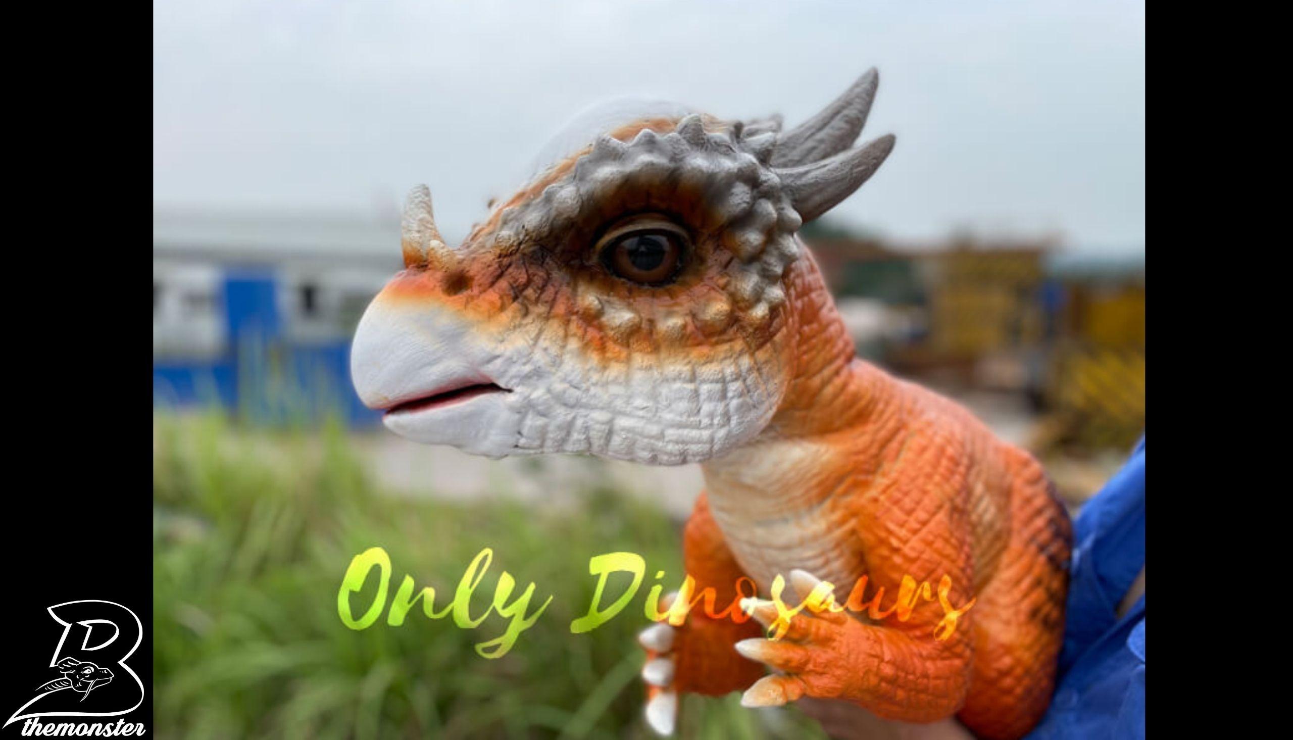 Adorable Baby Stygimoloch Dino Hand Puppet in vendita sul Bthemonster.com