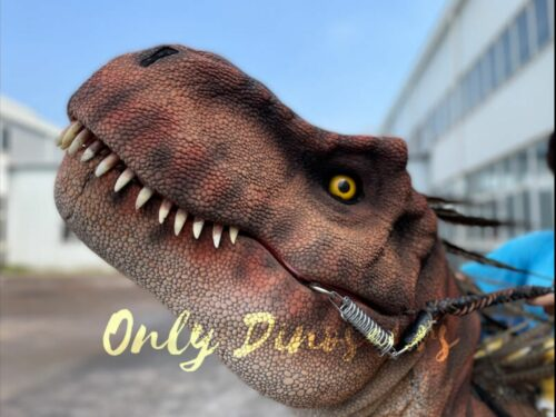 Feathered T-rex with Stilts Dinosaur Costume.Bthemonster.com
