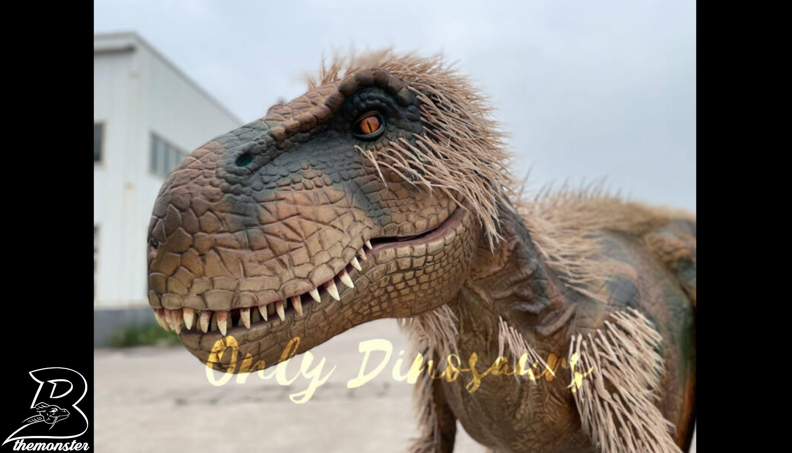 Feathered Visible Legs T-Rex Dinosaur Costume in vendita Bthemonster.com